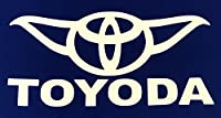 "Toyoda Star Wars Yoda Vinyl Car Decal Sticker White 5"""