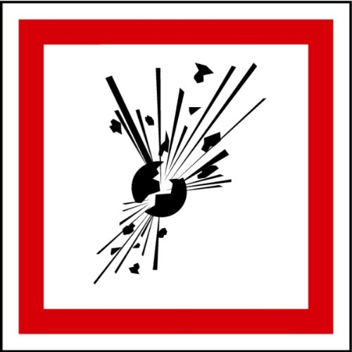 Aufkleber GHS 01 Gefahrensymbole Explodierende Bombe, Einzeln 100x100mm LEMAX Industriebedarf