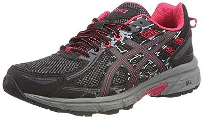 ASICS Gel-Venture 6 Womens Running Trainers T7G6N Sneakers Shoes (UK 4 US 6 EU 37, Black Pixel Pink 001)