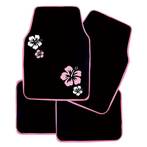 80 x 150 cm IMDIFA 404 Jeu de 4 Tapis Moquette Hibiscus Noir
