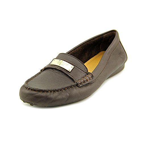 Coach Fredrica Pebble Grain Leather Chestnut Womens Flats Loafers Oxfords (9.5)