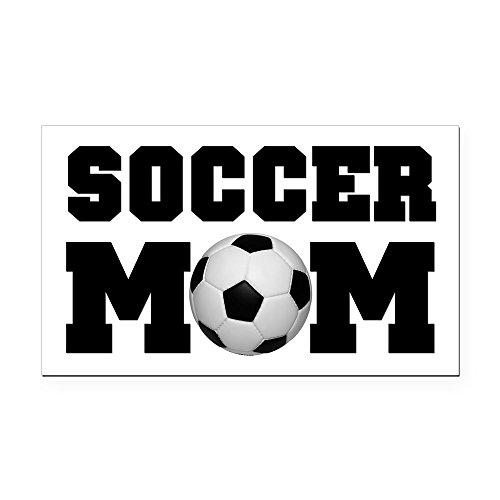 CafePress - Soccer Mom Rectangle Car Magnet - Rectangle Car Magnet, Magnetic Bumper Sticker