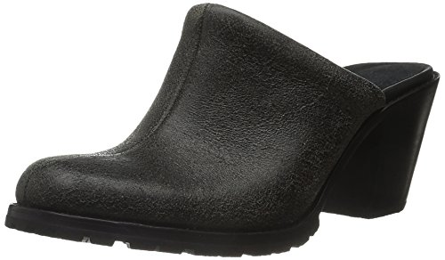 Woolrich Women Miss Lucy Mule Black Crackle Leather