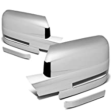 Ford F-150 with Turning Signal Pair of Exterior Side Door Mirror Covers (Chrome)