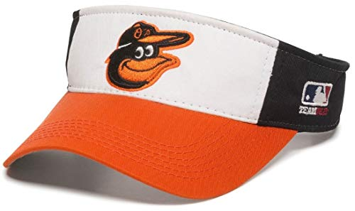 OC Sports Baltimore Orioles MLB White Black Golf Sun Visor Hat Cap Adult Men's Adjustable ()