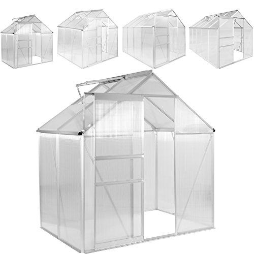 PLANTASIA® Alu Gewächshaus, 3,94 m³ - 9,42 m³, 6 mm Hohlkammerplatten (Kompletteindeckung), Aufbauvideo