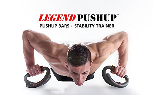 Legend Pushup: Push Up Bars + Stability Trainer