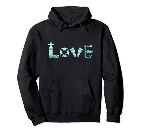 Love Scuba Diving Freediving Ocean Gear Dive Diver Hoodie