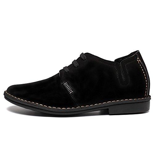 CHAMARIPA élégant Chaussures à lacets de Cuir suédé homme - Grandit de 6,5 cm