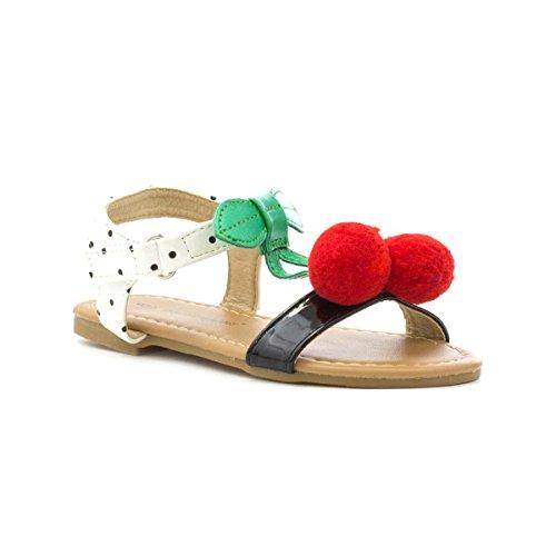 Chatterbox Multi Farbige Kirsche Flaches Sandale für Mädchen durch Mehrfarbig