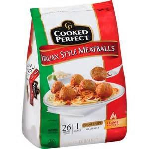 COOKED PERFECT MEATBALLS ITALIAN STYLE FROZEN FOOD MEAT 26 OZ PACK OF 2