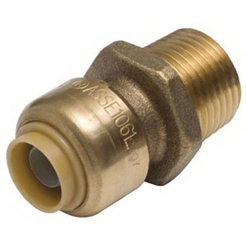 SharkBite U116LFA 1/2-Inch by 3/4-Inch MNPT SharkBite Lead Free Reducing Connector