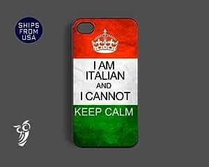 Italian Flag Cannot Keep Calm Case For Iphone 5/5S Cover Case For Iphone 5/5S Cover s cover - Cool phone Ca...