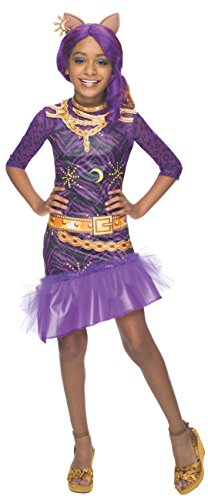 Rubies Monster High Fright Camera Action Clawdeen Wolf Costume, Child Medium (Toddler Wolf Costume)