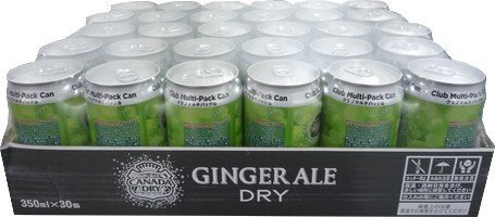 Canada Dry Ginger Ale Canada Dry ginger ale 350mlx30 cans by Canada Dry