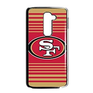 Red and yellow stripes San Francisco 49ers LG G2 Case Cover Shell (Laser Technology)