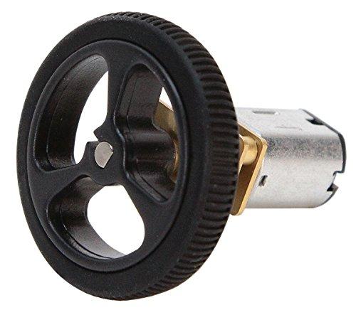 80 x 10mm Black Robot Wheels