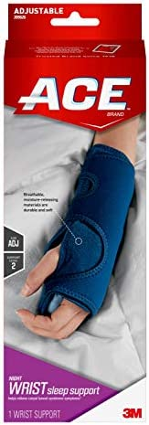 ACE Night Wrist Sleep Support, Helps relieve symptoms of Carpal Tunnel Syndrome, Money Back Guarantee