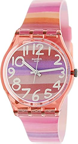 Swatch Atilbe Graphic Dial Plastic Quartz Ladies Watch GP140 (Sport Swatch Men)