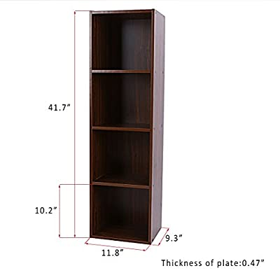 Eight24hours 4 Later Black Shelf Bookcase Storage Home Office Bedroom Furniture Bookshelf