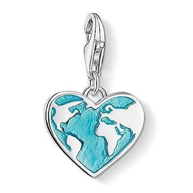 Thomas sabo heart globe charm pendant amazon jewellery thomas sabo quotheart globe charm pendant aloadofball Gallery
