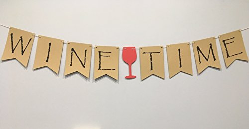 Wine Time Banner for Wine Tasting Party, Wine Banner, Shower -