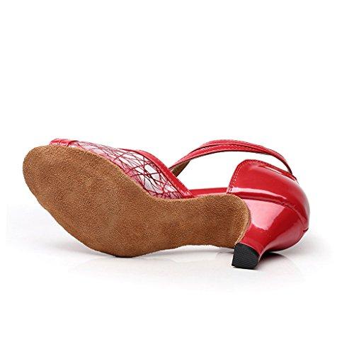 misu - Zapatillas de danza para mujer negro negro Red