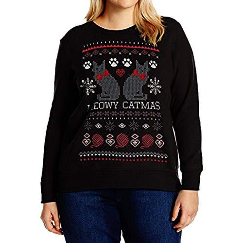 Cn taille femmes mousseline chemise pour dégagement Suk 8 shirt de shirts sweat grande lettres en couleur avec T taille avec Noël multicolor 2 Zhrui 5 qxR0Hfaf