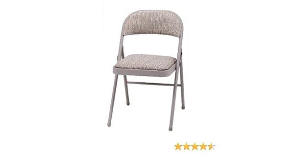 Lujosa silla acolchada, plegable, de acero, color marrón