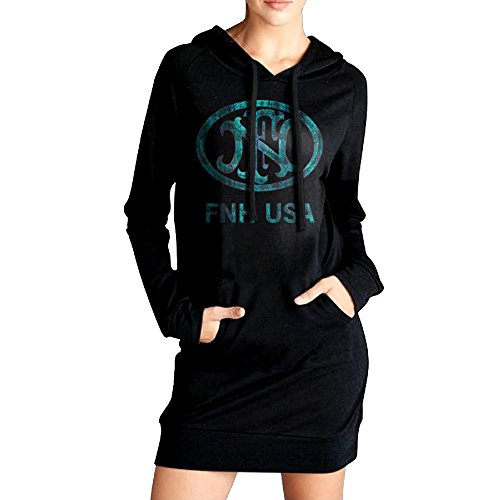 Elegant 5GI2P Fn Herstal Gun Long Sweatshirt Drawstring Ladies For Winter