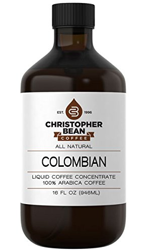 Colombian Cold Brew Or Hot Liquid Coffee Concentrate 16 Ounce Bottle