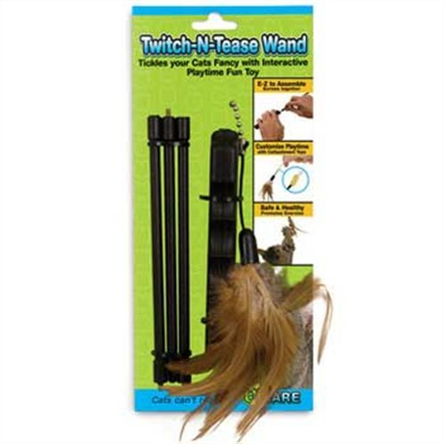 - Ware Manufacturing Twitch-N-Tease Wand Cat Toy