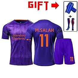 HS-HWH316 Liverpool Football Club # 11 Salah 2019 Football Résistance Suitwrinkle Respirant Formation Porter des Vêtements De Sport Adulte Et des Enfants De Football T-Shirt,4XS115~130CM