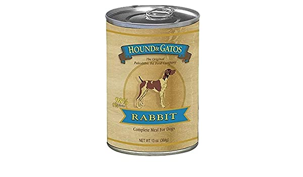 Hound & Gatos Grain Free American Rabbit Canned Dog Food ...