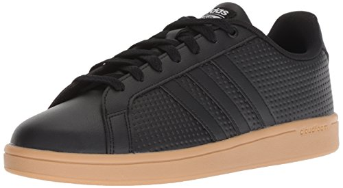 adidas Men's Cf Advantage Sneaker, Black/White, 9 M US