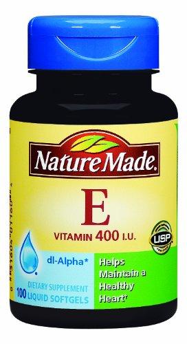 Nature Made Vitamine E 400 UI, 100 gélules (Pack de 3)