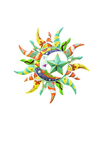 Wind & Weather SC8302 Sun Moon and Star Metal Wall - Art Wind Outdoor