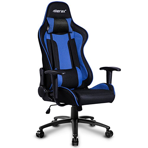 Cheap Merax Racing Gaming Chair Executive Swivel Mesh Computer Office Chair (Blue and black)