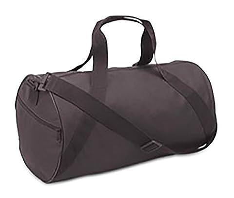 Gym Duffle Carrying Bag 17-inch (Black) - Black Label Duffel