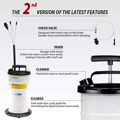 FIRSTINFO 9.5L Manual Operation Oil or Fluid Extractor by FIRSTINFO TOOLS FIT YOUR NEEDS (Image #1)
