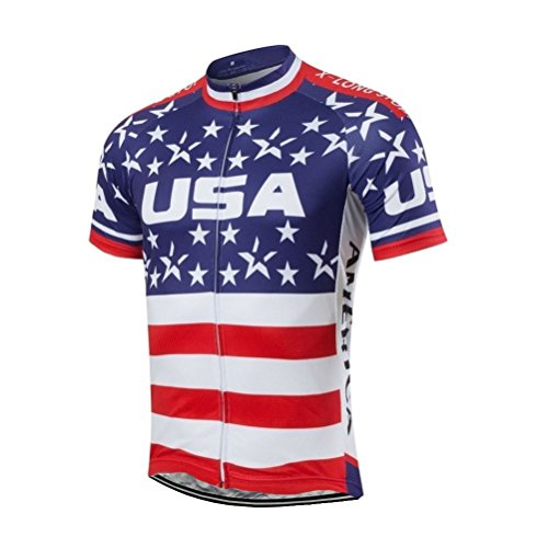 Uriah Men's Cycling Jersey Short Sleeve American Freedom Size L(CN)