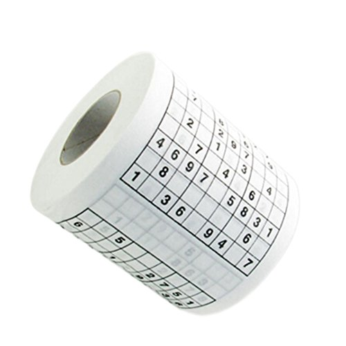 Qiaoshiren Creative Sudoku Intellectual Game Printed Bathroom Roll Tissue Paper Towels Toilet Paper