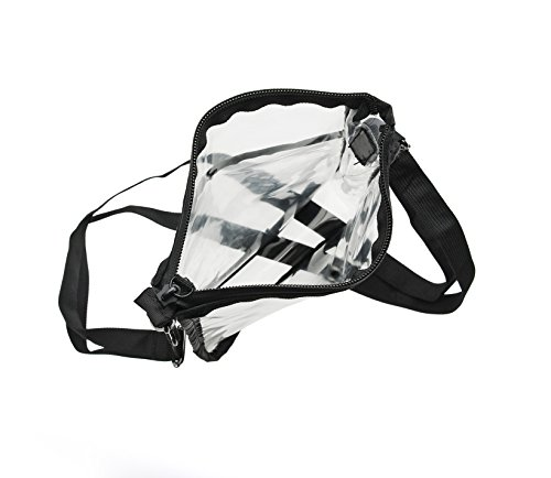 Bag Slip Strap Long Outside Black Pocket Cross and Body Clear with Soft qtS64S