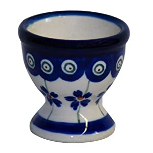 Boleslawiec Pottery Egg cup, Original Bunzlauer Keramik, Decor 166a