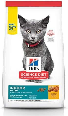Hill's Science Diet Dry Cat Food, Kitten, Indoor, Chicken Recipe, 7 lb Bag