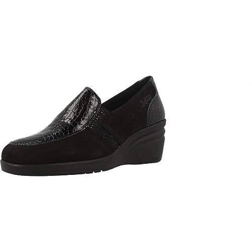 Mocasines para Mujer, Color Negro, Marca 24 HORAS, Modelo Mocasines para Mujer 24 HORAS 23847 Negro: Amazon.es: Zapatos y complementos
