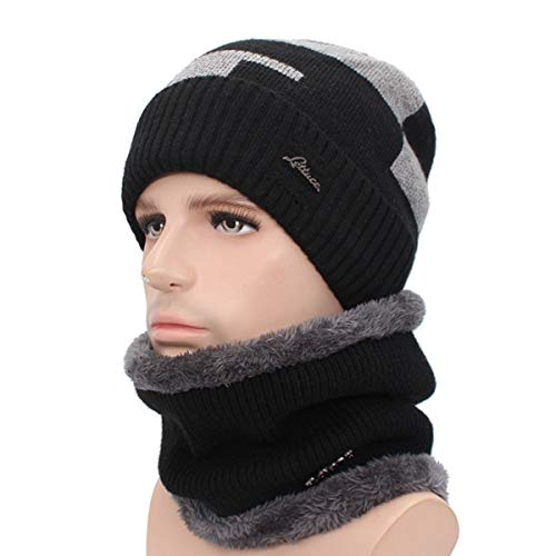 26215c5fffba20 World 2 home AETRUE Plus Winter Hat Men Skullies Beanies Scarf Knitted Hat  Male Gorras Bonnet Warm Wool Thick Beanies for Men Women Hats Caps:  Amazon.in: ...