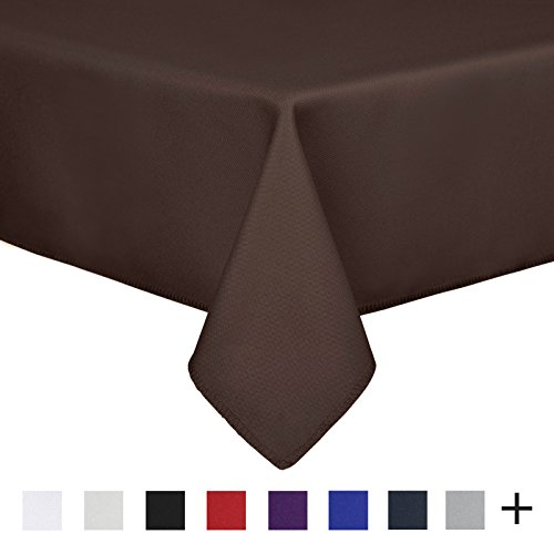 Remedios 90 x 156-inch Rectangle Polyester Tablecloth Table Cover - Wedding Restaurant Party Banquet Decoration, Chocolate