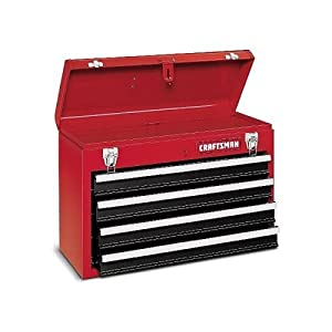 CRAFTSMAN 340 pc MECHANICS TOOL SET w/CRAFTSMAN TOOL BOX 4 DRAWERS