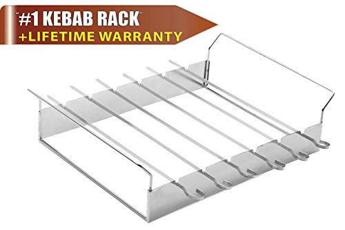 shish-kebab-grilling-rack-with-6x145-skewers-barbecue-bbq-stainless-steel-non-stick-flat-wide-kabob-